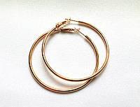 Серьги кольца ХР, диаметр 3 см, позолота
