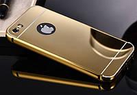 Чехол Apple iPhone 5 / 5S зеркальный золотистый