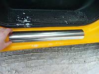 Накладки на пороги (лазер) Renault Trafic, Opel Vivaro, Nissan Primastar  нержавейка без надписи