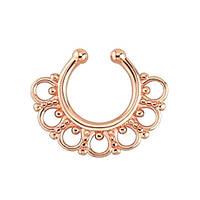 Серьга-обманка в нос Aztec Розовое Золото, фото 1