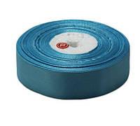 Голубая атласная лента 0,6см