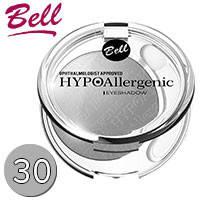 Bell HypoAllergenic - Тени для век 1-цв. EyeShadow Тон 30 светлые серые сатиновые