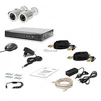 Комплект видеонаблюдения Tecsar AHD 2OUT LUX (6525)