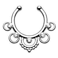 Серьга-обманка в нос Ethnic Cеребро