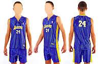 Форма баскетбольная подростковая NBA LAKERS 24 цвет фиолетовый