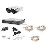 Комплект видеонаблюдения Tecsar IP 2OUT LUX (7360)