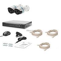 Комплект видеонаблюдения Tecsar IP 2OUT (7358)