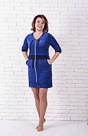 Молодёжный велюровый халат , фото 1