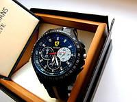 Кварцевые мужские часы Ferrari. Хорошее качество. Удобный и практичный дизайн. Деловые часы. Код: КДН1371