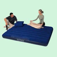 Матрас Интекс Intex 68765 / 152 х 200 см. + Две подушки + Насос!
