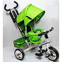 Велосипед трехколесный салатовый PROFI-TRIKE M 0448 усиленная ручка