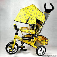 Велосипед трехколесный жёлтый PROFI-TRIKE M 0448 усиленная ручка
