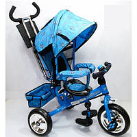 Велосипед трехколесный синий PROFI-TRIKE M 0448 усиленная ручка