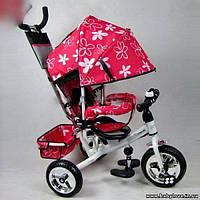 Велосипед трехколесный розовый PROFI-TRIKE M 0448 усиленная ручка