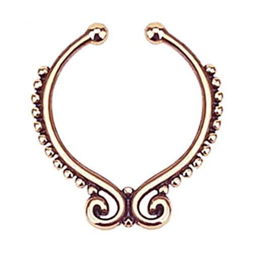 Серьга-обманка в нос Folk Розовое Золото