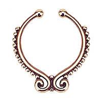 Серьга-обманка в нос Folk Розовое Золото, фото 1