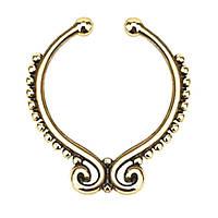 Серьга-обманка в нос Folk Желтое Золото, фото 1