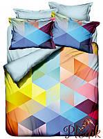 Двуспальное постельное белье Бамбук 3D Class Cube
