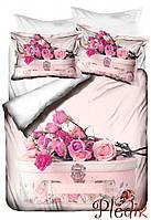 Двуспальное постельное белье Бамбук 3D Class Gulsanem