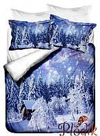 Двуспальное постельное белье Бамбук 3D Class Chalet