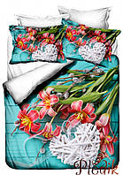 Двуспальное постельное белье Бамбук 3D Class Margarit
