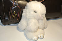 Хутряний кролик брелок