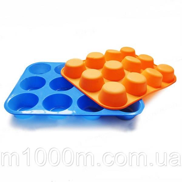 Форма силиконовая на 12 кексов маффинов