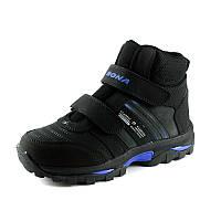 Ботинки зимние детские Bona 32860L -9 черный нубук