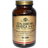 Омега 3-6-9, Solgar, 1300 мг, 120 капсул