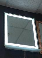 Зеркало 600*700 мм с светодиодной подсветкой и полкой