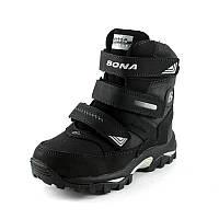 Ботинки зимние детские Bona 33112D-9 черный нубук