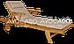 Шезлонг дерев'яний  HAVANA 200 см з матрасом ,колір латте, фото 2