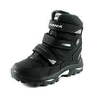 Ботинки зимние детские Bona 33112N-9 черный нубук