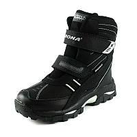 Ботинки зимние детские Bona 33113D-9 черный нубук