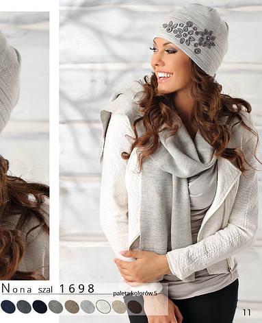 Женский модный качественный шарф от Pawonex - Nona производства Польша, фото 2