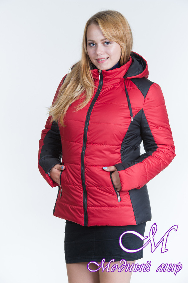 Женская двухцветная демисезонная куртка (р. 44-64) арт. Куртка № 15