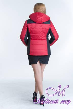 Женская двухцветная демисезонная куртка (р. 44-64) арт. Куртка № 15, фото 2