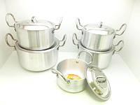 Набор алюминиевых кастрюль с крышками (5 шт.), фото 1