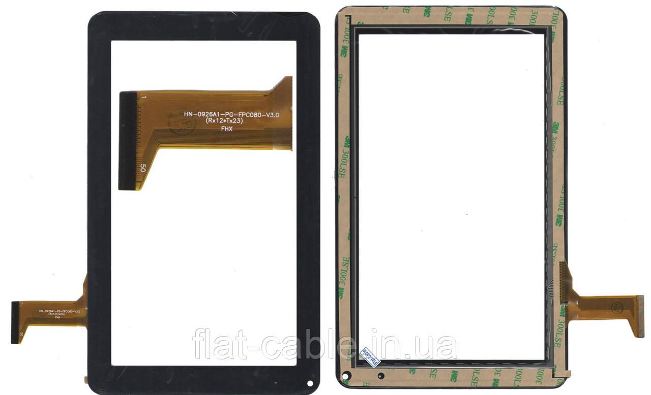 Тачскрин (сенсор) №050.4 для планшета Freelander PD50, HN-0926A1-PG-FPC080 233x141mm 50pin