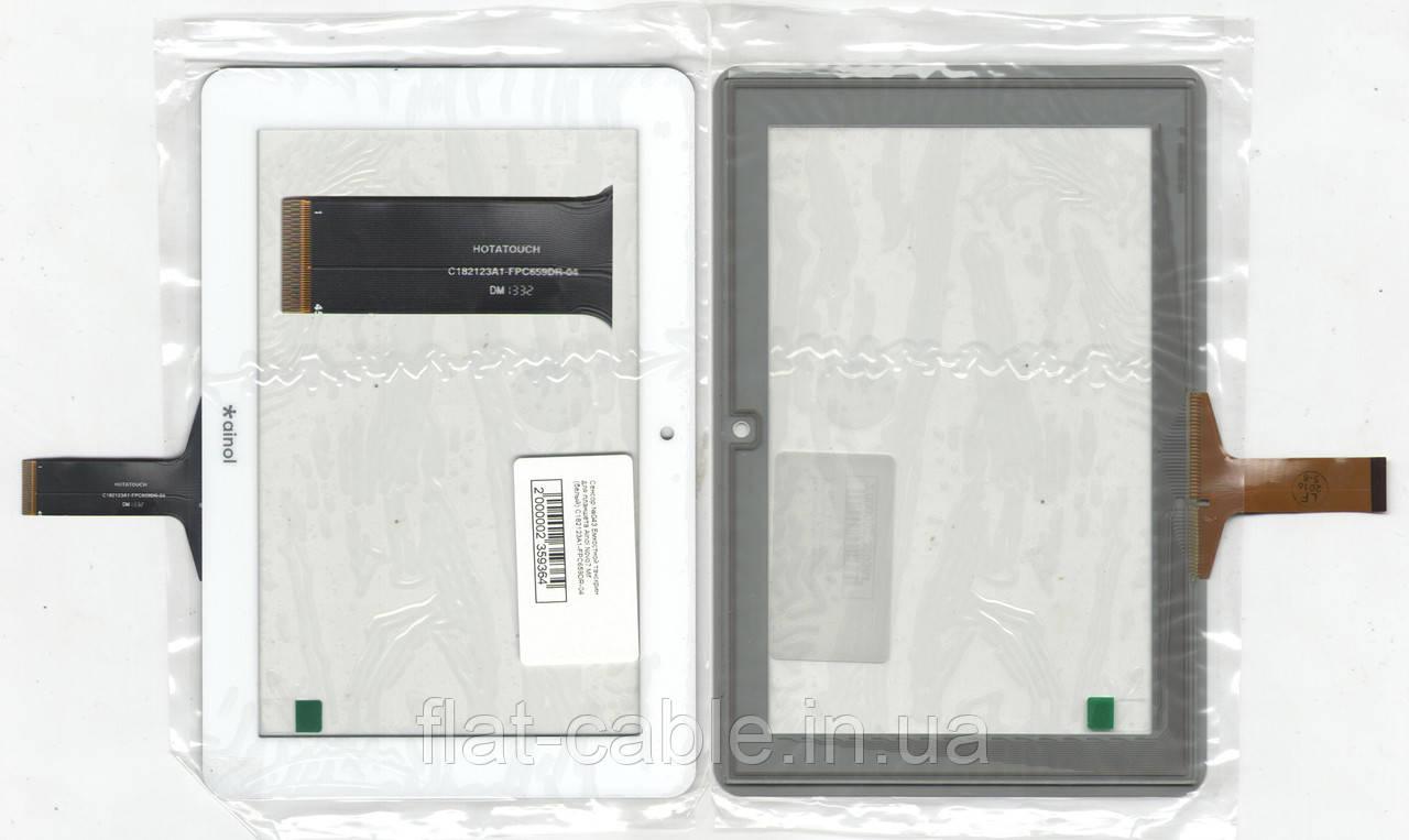 Тачскрин (сенсор) №043 для планшета Ainol Novo7 Mif (белый) C182123A1-FPC659DR-04