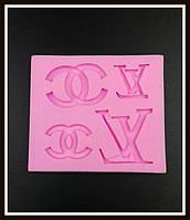 """Молд силиконовый """"LV (LOUIS VUITTON)"""" и """"CHANEL"""""""