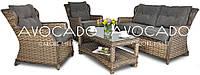Ротанговый набор  BILBAO 2 MELAGE BRAUN диван+кресла+стол