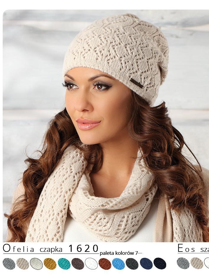 Красивая модная нежная женская шапка Ofelia, Польша.
