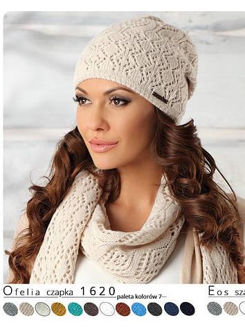 Красивая модная нежная женская шапка Ofelia, Польша., фото 2