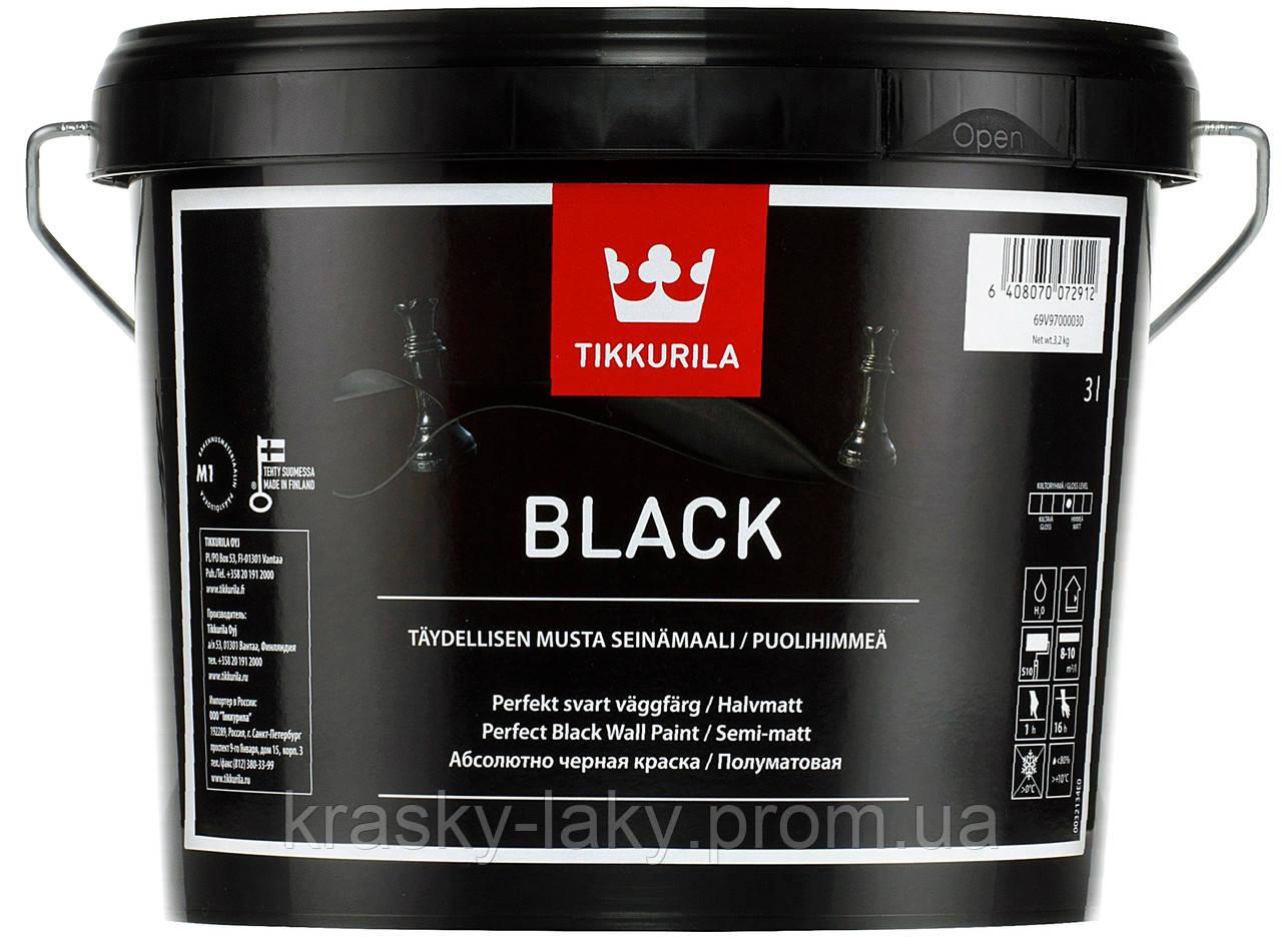 Краска черная Black Tikkurila, 3л