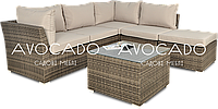 Комплект плетеный UDINE 220х205    см + пуф + столик