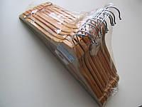 Набор вешалок для одежды деревянных  2-й сорт 10шт