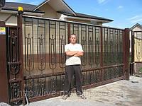 Откатные ворота кованые, фото 1