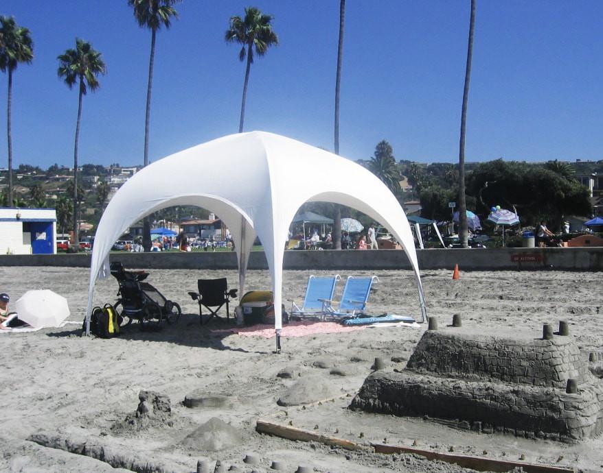 """Палатка торговая, для отдыха - """"Парк"""" 3,5х3,5 метра. Белого цвета"""