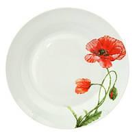 """Набор 6 мелких тарелок """"Красный мак"""" Ø20см, керамика"""